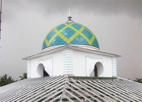 desain konstruksi kubah masjid kubah masjid atap limasan genteng metal baja ringan