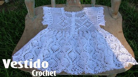 vestido en crochet para recin nacida vestidos para ni 241 a tejidos en crochet ganchillo tejidos