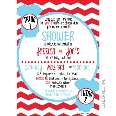 Dr Seuss Thing 1 And Thing 2 Baby Shower by Stunning Decoration Thing 1 And Thing 2 Baby Shower