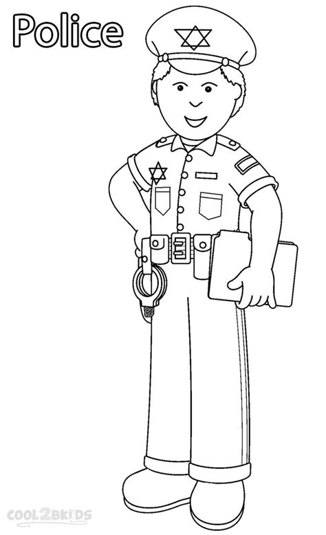 Preschool Coloring Pages Community Workers | printable community helper coloring pages for kids