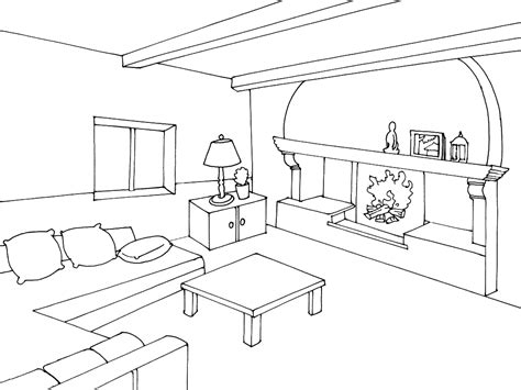 living room coloring living room 9 buildings and architecture printable coloring pages