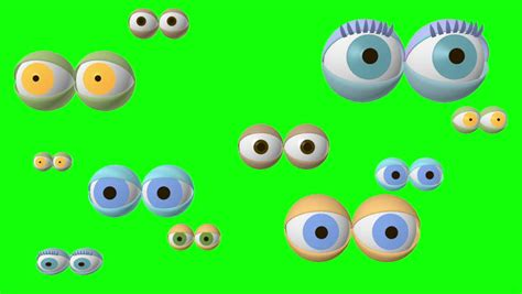 2d Eye Deco 12pair screen of style eye drawings hd 1080 2d animation alpha channel green