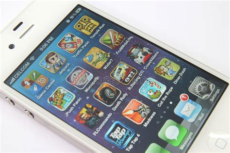 home design game apps for iphone games apps on white iphone 4s editorial image image of