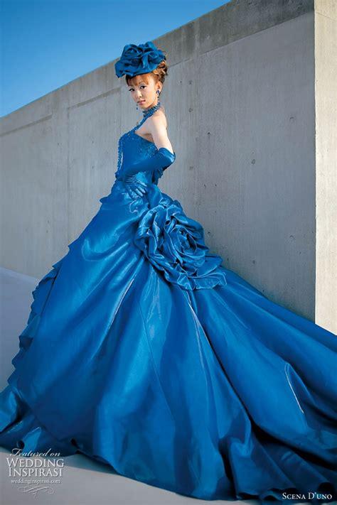 Blue Wedding Dress by Scena D Uno Western Wedding Dresses Wedding Inspirasi