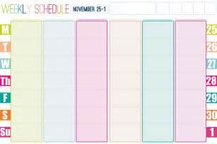 cute weekly calendar template new calendar template site