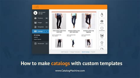 how to create template how to create a product catalog with custom templates