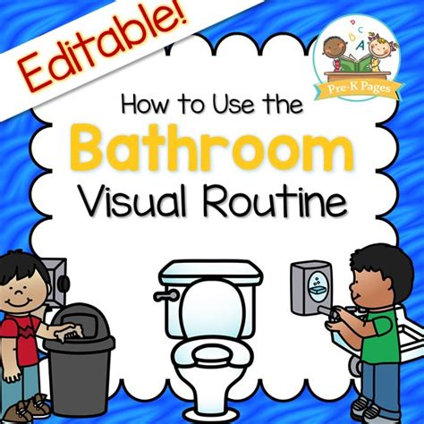 bathroom routine printables bathroom visual routine pre k pages