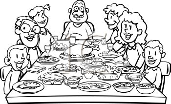 Extended Dining Room Tables royalty free thanksgiving clipart image 2049 of 2358