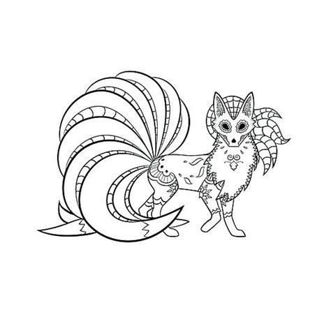 cute day of the dead coloring pages ninetails de los muertos pokemon day of the dead
