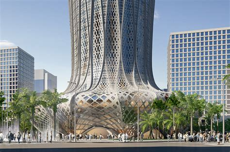 Residential Plans by Zaha Hadid Architects Lusail City Plans For Hotel Building