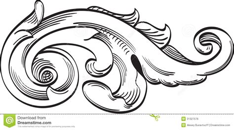 single acanthus leaf stock vector illustration of
