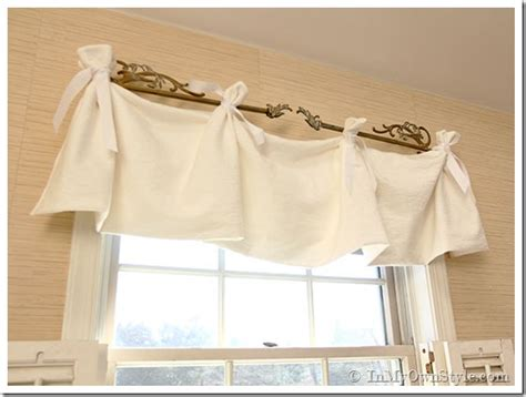 Bathroom Drapery Ideas no sew window valance in my own style