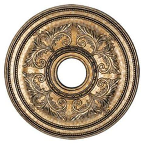 ceiling medallion in vintage gold leaf size large