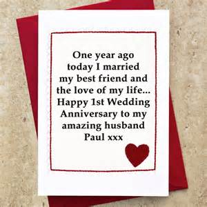 personalised 1st wedding anniversary card by arnott cards gifts notonthehighstreet