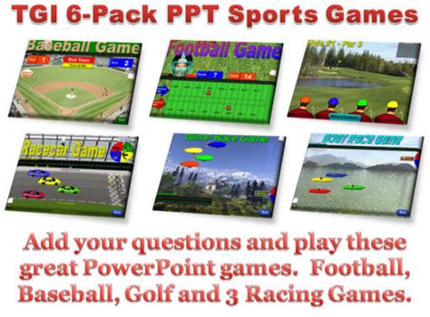 tutorial powerpoint games 4 pack sports games training games com