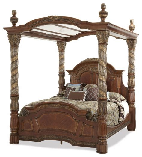 King Canopy Bed Frame Villa Valencia California King Canopy Bed Traditional Beds By Carolina Rustica