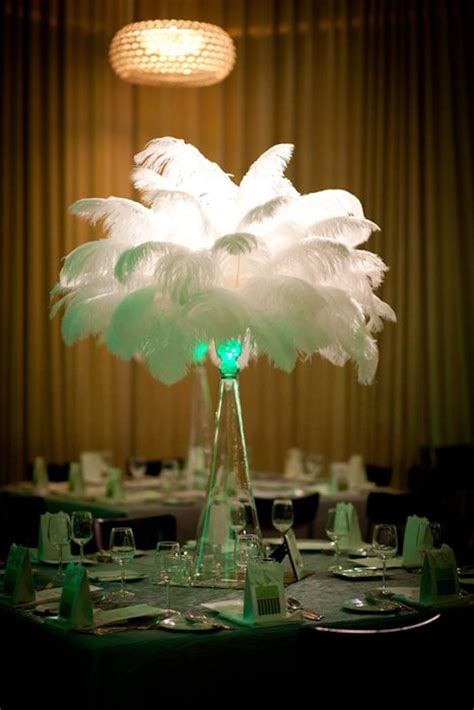 flower and event decor ostrich feather centerpieces