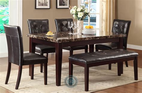 Jofran Midtown 7 Rectangular Glass Dining Room Set In Espresso Beyond Stores Dining Room Set Rectangular 28 Images Tripton