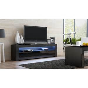 tv stands black black gloss tv stand 157 concept muebles