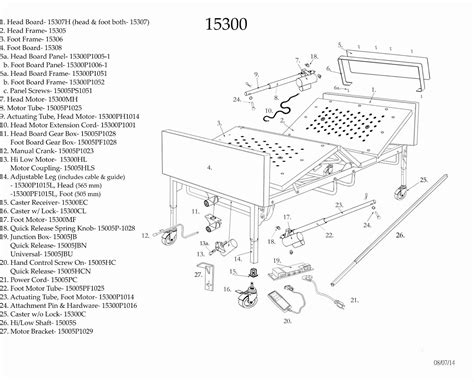 parts of the bed full electric bariatric hospital bed replacement parts