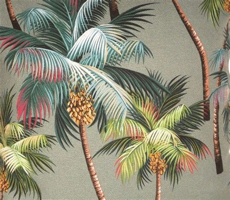 palm tree upholstery fabric tropical hawaiian cotton barkcloth upholstery fabric
