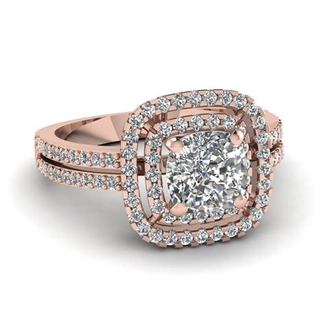 ring cusions 14k rose gold cushion cut engagement rings fascinating