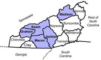 map of western carolina counties wnc families riddle genealogical enterprises