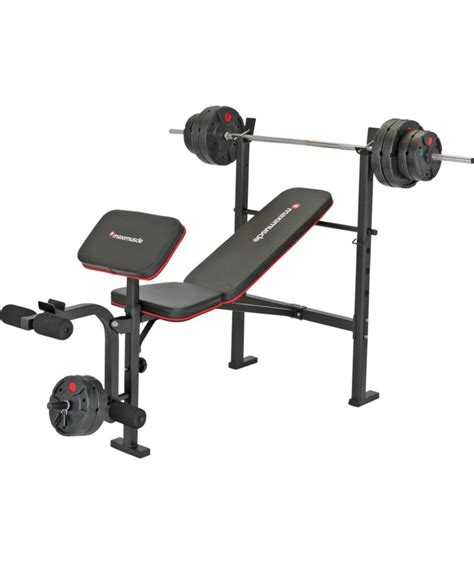 maximuscle bench maximuscle bench and weights package for 163 69 99 was 163 99