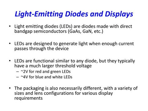 light emitting diode monitors wiki ppt lecture 4 diode led zener diode diode logic powerpoint presentation id 2771152