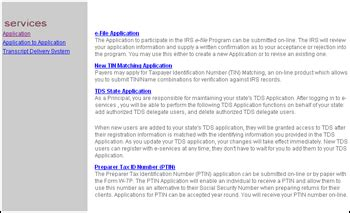 tds application home page