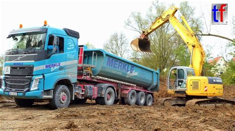 volvo trucks germany kobelco e 235 sr loads mercedes volvo