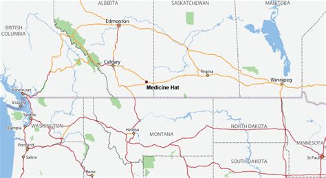 medicine hat city map medicine hat