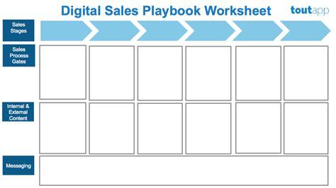 Digital Sales Playbook Sales Playbook Template