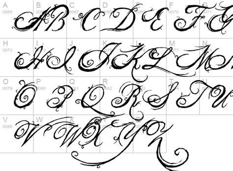 tattoo font queen the king font font fontzone net