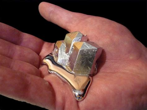 alert gallium is a metal gallium is a metal that melts in your today i learned something new