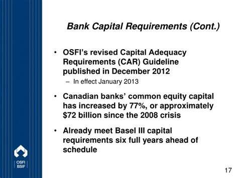 capital requirements banks ppt the regulation of financial institutions in canada