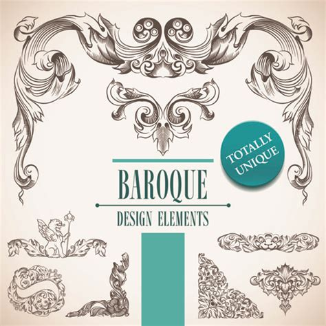 free baroque design elements vector elements of baroque style frames and borders vector 01