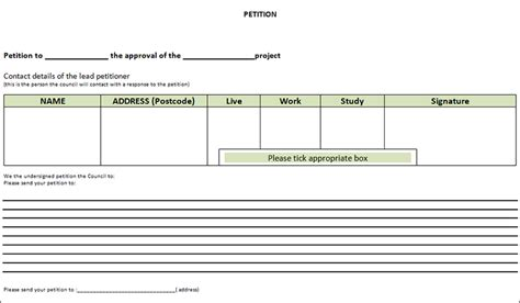 petition template free pdf word documents download