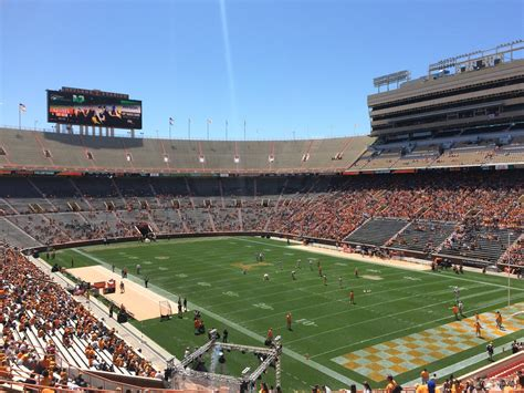neyland stadium visitors section neyland stadium section z13 rateyourseats com