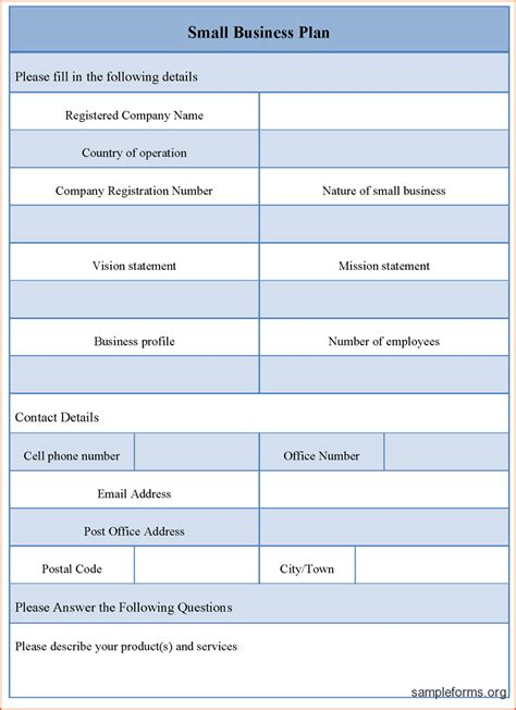 business plan templates startup business plan word