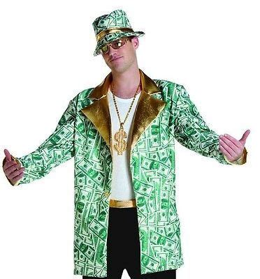 money man jacket coat funny pimp casino mens adult