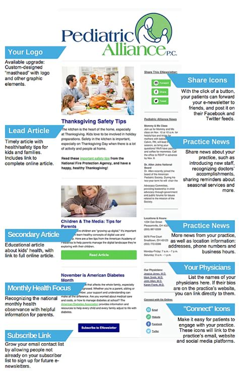 Patient Newsletter Patient E Newsletters For Pediatric Practices True Blue Communications