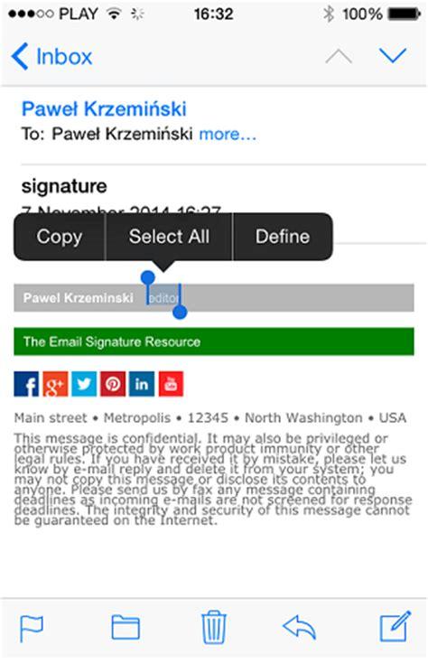 format email for iphone iphone html e mail signatur mit grafik mail signatures