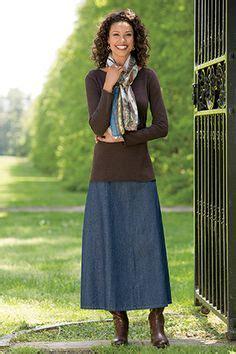 modest jean skirts dress