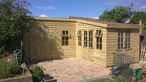 L Shed by Shed King Liverpool Sheds Timber Buildings Garden
