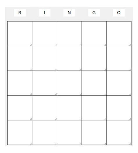 blank bingo template pdf blank bingo templates free premium templates forms sles for jpeg png pdf