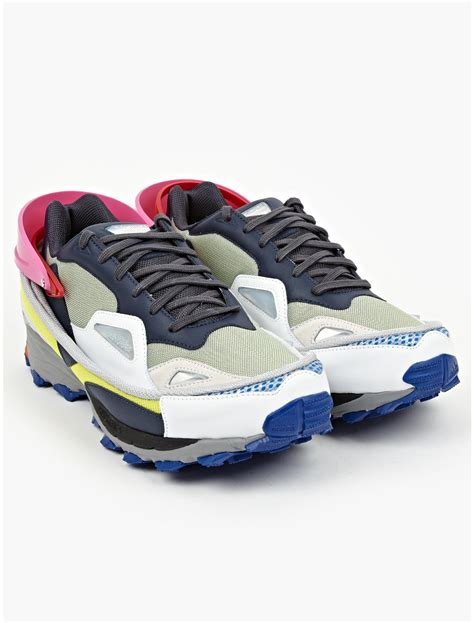 raf simons shoes blue adidas by raf simons mens response trail sneakers in multicolor for blue lyst