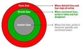 comfort zone theory comfort stretch panic coaching tool crowe associates
