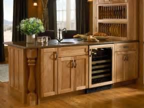 Oak Kitchen Hutch Cabinet Design