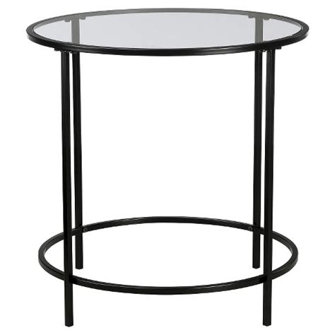 black glass side table modern side table black clear glass sauder